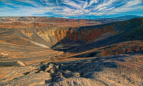 Crater in Death Valley